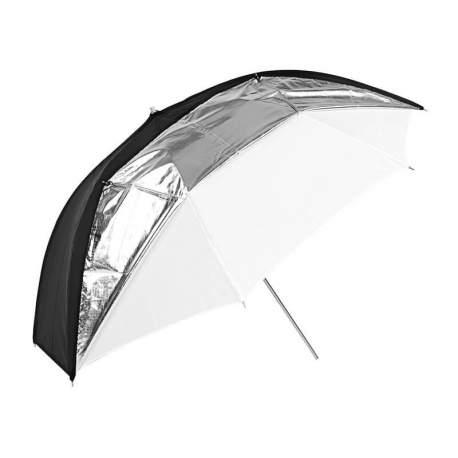 Foto lietussargi - Godox UB-006 Black and Silver and White Umbrella (84cm) - perc šodien veikalā un ar piegādi
