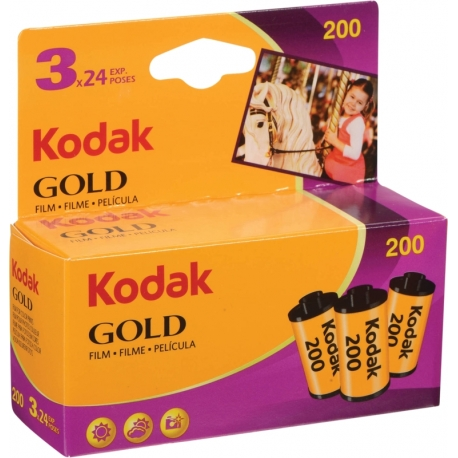 Foto filmiņas - KODAK 135 GOLD 200-24X3 CARDED - быстрый заказ от производителя