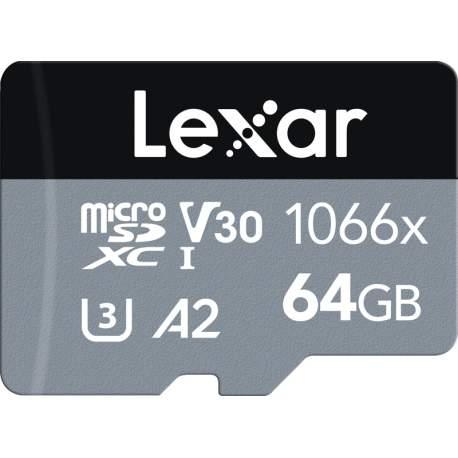 Карты памяти - LEXAR PRO 1066X MICROSDHC/MICROSDXC UHS-I (SILVER) R160/W70 64GB LMS1066064G-BNANG - быстрый заказ от производителя