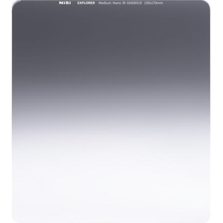 ND gradient filtri - NISI SQUARE FILTER EXPLORER 150X150MM MEDIUM GND8 3STOPS EXPLORER ME GND8 150 - ātri pasūtīt no ražotāja