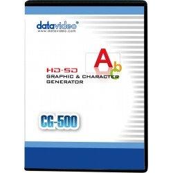 Programmatūra, grāmatas - DATAVIDEO CG-500 CHARACTER GENERATOR SOFTWARE(KEY) DONGLE CG-500 - ātri pasūtīt no ražotāja