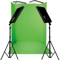 Комплект освещения с фоном - NANLITE COMPAC 4 X100 GREEN SCREEN 1822 U-KIT 113976 - быстрый заказ от производителя