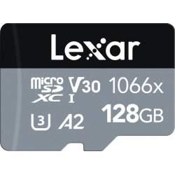 Atmiņas kartes - LEXAR PRO 1066X MICROSDHC/MICROSDXC UHS-I (SILVER) R160/W120 128GB LMS1066128G-BNANG - купить сегодня в магазине и с доставкой