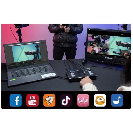 LCD monitori filmēšanai - FEELWORLD LIVE PRO L1 Multi-format Video Mixer - perc šodien veikalā un ar piegādi