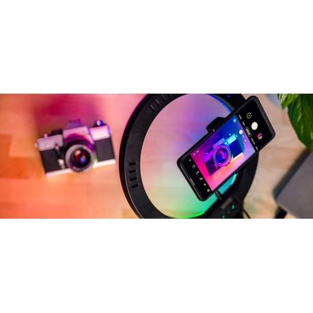 Gredzenveida LED lampas - Newell RL10 RGB LED Vlogging Kit with tripod - perc šodien veikalā un ar piegādi