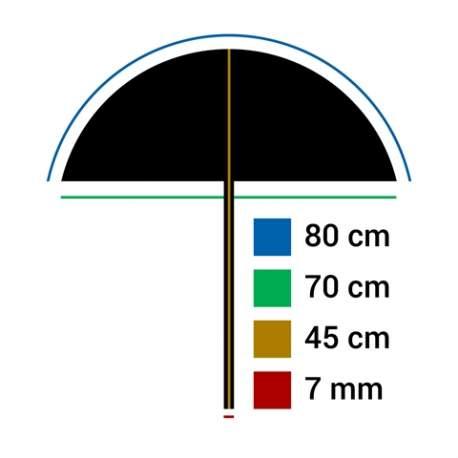 Зонты - Falcon Eyes Umbrella UR-32SB1 Silver/Black 80 cm - купить сегодня в магазине и с доставкой