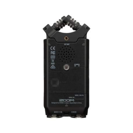 Mikrofoni - ZOOM H4n Pro Black 4-Input / 4-Track Portable Handy Recorder with Onboard X/Y Mic Capsule - perc šodien veikalā un ar piegādi