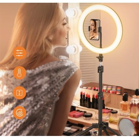 Gredzenveida LED lampas - Blitzwolf BW-SL2 Desktop Flash LED Phone Holder - perc šodien veikalā un ar piegādi