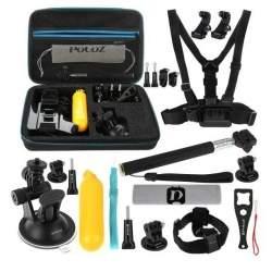 Action kameru aksesuāri - Puluz Set of 20 accessories for sports cameras PKT11 Combo Kits - perc šodien veikalā un ar piegādi