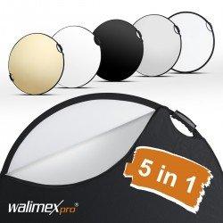 Atstarotāju paneļi - Walimex pro 5in1 reflector wavy comfort Ø80cm - купить сегодня в магазине и с доставкой