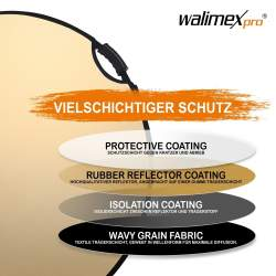 Atstarotāju paneļi - Walimex pro 5in1 reflector wavy comfort Ø107cm - perc šodien veikalā un ar piegādi