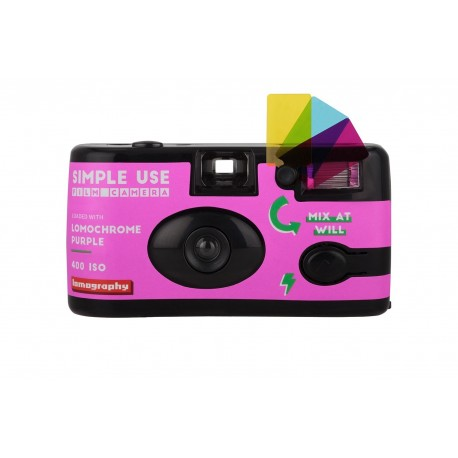 Lomography Camera Lomochrome Purple + Lomography Color Negative film 400/135/36