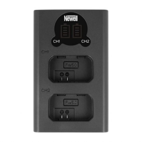 Chargers for Camera Batteries - Newell DL USB C dual channel charger for NP FW50 - quick order from manufacturer