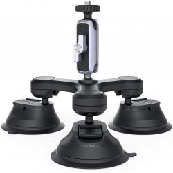 Stiprinājumi action kamerām - PGYTECH Three-Arm Suction Mount - perc šodien veikalā un ar piegādi