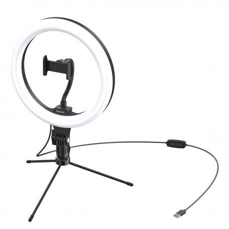 Baseus 10-inch bi-color Light Ring Table Stand Livestream phone Holder