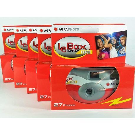 Filmu kameras - LeBox vienreizlietojamās kameras ISO400 27 kadri ar zibspuldzi Flash 5x iepakojums - perc šodien veikalā un ar piegādi