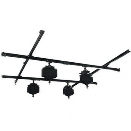 Sliežu stiprināšanas sistēmas - Falcon Eyes Ceiling Rail System B-4040C 4x4 m incl. 4 Pantographs - быстрый заказ от производителя