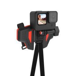 Stiprinājumi action kamerām - Telesin Second Genaration Motorcycle Helmet StrapGP-HBM-MT2 - perc šodien veikalā un ar piegādi