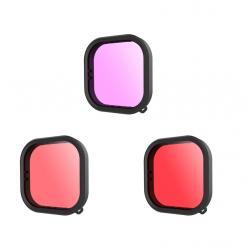 3-pack (red/purple/magenta) lens filter for Telesin