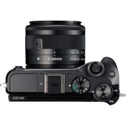 Bezspoguļa kameras - Canon EOS M6 15-45mm IS STM Black - ātri pasūtīt no ražotāja