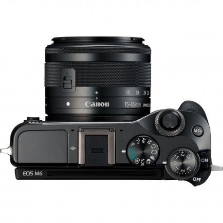 Беззеркальные камеры - Canon EOS M6 15-45mm IS STM Black - быстрый заказ от производителя