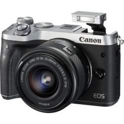 Bezspoguļa kameras - Canon EOS M6 15-45mm IS STM Silver - ātri pasūtīt no ražotāja