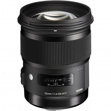 Objektīvi un aksesuāri - Sigma 50mm 1.4 DG HSM Art objektīvs priekš Canon noma
