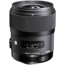 Lenses and Accessories - Sigma 35mm F1.4 DG HSM Art Canon EF mount rental