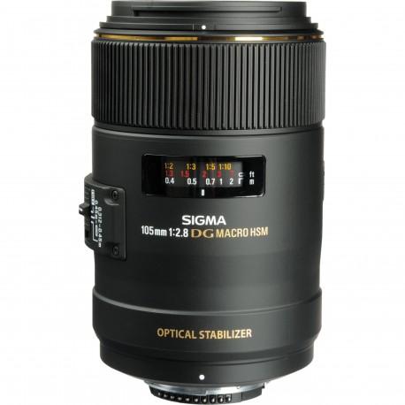 Objektīvi un aksesuāri - Sigma 105mm f/2.8 EX DG OS HSM Macro objektīvs priekš Nikon noma