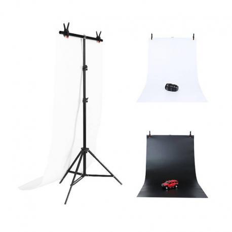 Puluz Photo studio background support 70x200cm + Backdrops 2 pcs DCA0976