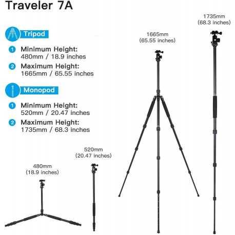 SIRUI Traveler 7A Aluminium Tripod