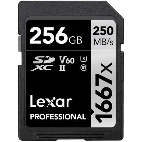 Карты памяти - LEXAR PRO 1667X SDXC UHS-II U3 (V60) R250/W120 256G - купить сегодня в магазине и с доставкой