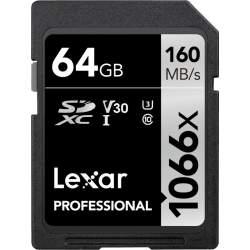 Atmiņas kartes - Lexar Pro 1066x SDXC U3 (V30) UHS-I R160/W70 64GB - perc šodien veikalā un ar piegādi