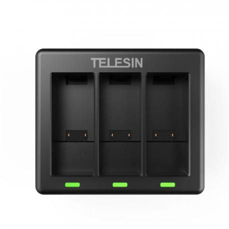 Telesin 3-slot charger used for GoPro Hero 9 balck