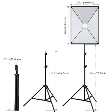 PULUZ 50x70cm Studio Softbox + 1.6m Tripod Mount + (PU5070EU)