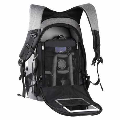 Puluz camera backpack with solar panels 14W, USB port (grey) PU5012H