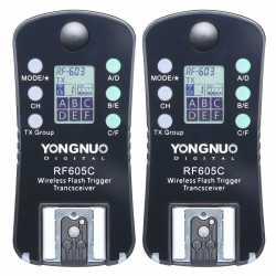 Radio palaidēji - Yongnuo RF-605C Canon LCD zibspuldzes palaidējs un shutter release - perc veikalā un ar piegādi