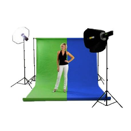 Backgrounds and supports - Chroma Green fons 3x7m rent