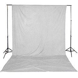 Backgrounds and supports - Balts auduma fons 3x6m rent