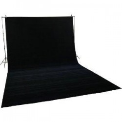 Backgrounds and supports - Melns auduma fons 3x6m rent