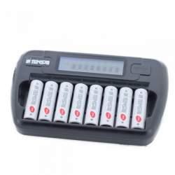 Akumulatori zibspuldzēm - TENSAI TI-800L AA un AAA 8gab lādētājs - perc veikalā un ar piegādi