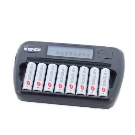 Pirkstiņu baterijas zibspuldzēm - TENSAI TI-800L AA un AAA 8gab lādētājs - ātri pasūtīt no ražotāja
