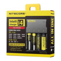 Akumulatori zibspuldzēm - Nitecore bateriju lādētājs Intellicharger i4 - 2014 edition IMR/Li-on, Ni-MH/Ni-Cd AA AAA 18650 - perc veikalā un ar piegādi