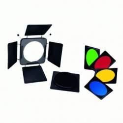 Reflectors - Linkstar Barndoors LFA-BD + 4 Color Filters + Honeycomb Grid - quick order from manufacturer