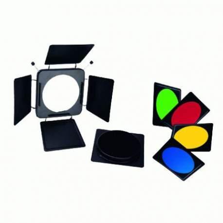 Reflektori - Linkstar vārtiņi LFA-BD + 4 krāsu filtri 561010 - ātri pasūtīt no ražotāja