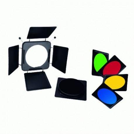 Reflectors - Linkstar Barndoors LFA-BD + 4 Color Filters + Honeycomb Grid - quick order from manufacturer