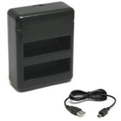 GoPro Aksesuāri - Dubultais Gopro hero 4 baterijas lādētājs - купить в магазине и с доставкой