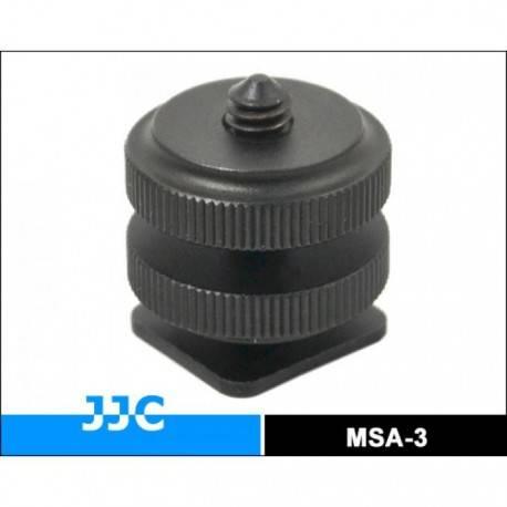 Aksesuāri zibspuldzēm - JJC MSA-3 adapteris pāreja no hot shoe uz 1/4 collas vītni - perc šodien veikalā un ar piegādi