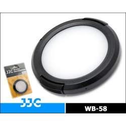 Objektīvu vāciņi - JJC WB-58 58mm baltā balansa vāciņi (White Balance Cap) - perc veikalā un ar piegādi
