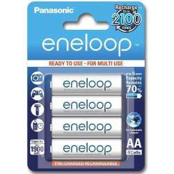 Batteries and chargers - Panasonic Batteries Panasonic eneloop rechargeable battery AA 1900 4BP BK-3MCCE/4BE - buy today in store and with delivery